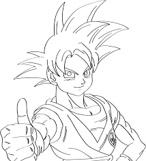goku super saiyan god lineart test with tablet by kingvegito on