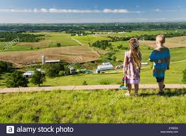 iowa scenery images Boy and girl enjoying the scenery of the mississippi river valley jpg