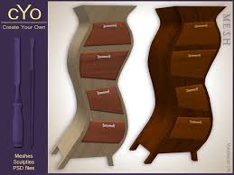 Create Wood Shelf Photoshop by Second Life Marketplace Cyo Whimsical Dresser Full Perms Mesh