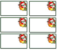 christmas clipart name tags