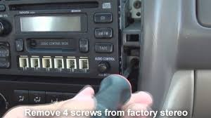 remove stereo toyota avalon 1999 2003 youtube