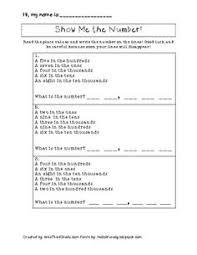 big number place value challenge 4th grade place value worksheet