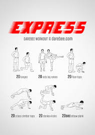 easy express no equipment home workout for all fitness levels
