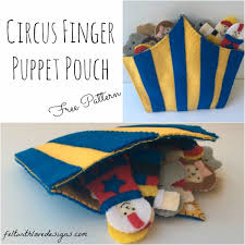 circus puppets circus finger puppet pouch tutorial free pattern pouch