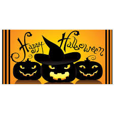 bring your own broom halloween party banner backdrop decoration