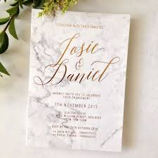 wedding invitations adelaide copper foiling on graphic printed marble background on 600gsm