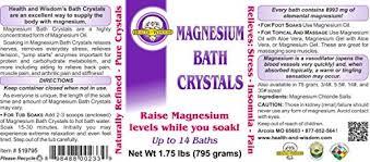 what is 1 75 bath amazon com magnesium bath crystals 1 75 up to 14 baths bath