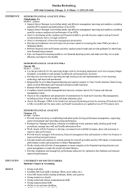 financial analyst resume exle senior financial analyst resume sles velvet