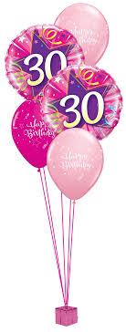 30th birthday balloon bouquets pink 30th birthday balloon bouquet party fever