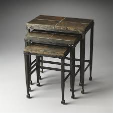 butler specialty nesting tables butler specialty burnham metalworks nesting tables in slate and