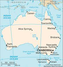 map with oceans travelblog map of australia