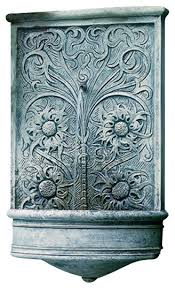 sussex garden wall water fountain traditional outdoor