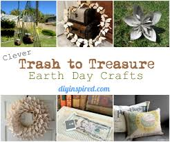 clever trash to treasure earth day crafts diy inspired