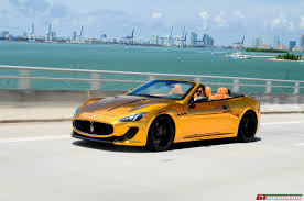 convertible maserati for sale gold maserati grancabrio mc by velos designwerks gtspirit