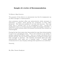 collection of solutions sample employer s recommendation letter on