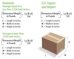 dimensional weight ups