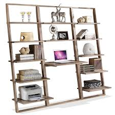 Ladder Desk And Bookcase by Leaning Living Desk Wall In Smoky Driftwood Closeout By