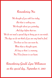 in loving memory cards custom wedding memorial poem digital