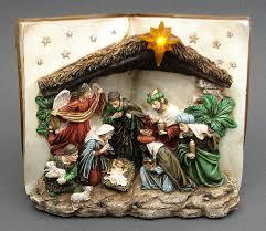 nativity scene book led
