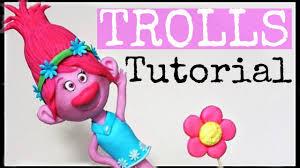 princess poppy trolls cake topper figurine diy how to make youtube