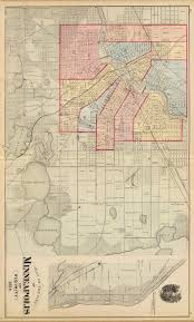 Map Of Minneapolis Mpls 1874 Jpg