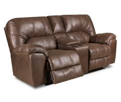 Microfiber Reclining Loveseat With Console Sofas Furniture Big Lots