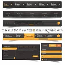 modern web design modern web design navigation elements topvectors