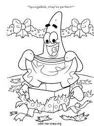 sponge bob christmas coloring pictures free coloring pages on