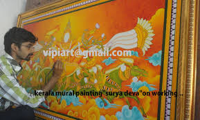 mural and oil paintings by vipin iritty on behance sooryadeva canvas painting kerala mural painting mural painting soorya deva paintings traditional art kerala vipin iritty vipiart gmail com 9400661412