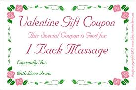 printable romantic gift certificates printable valentine love coupons