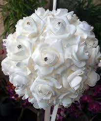 flower balls 12 white foam flower balls paperlanternstore