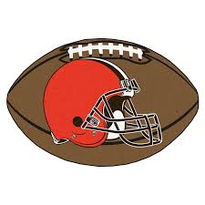 Cleveland Browns Home Decor by Amazon Com Fanmats Nfl Cleveland Browns Nylon Face Football Rug