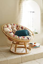 furniture reading room design with round cream cozy papasan