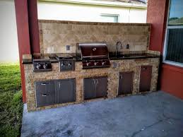 Stone Veneer Kitchen Backsplash Creative Outdoor Kitchens Stone Creative Outdoor Kitchens