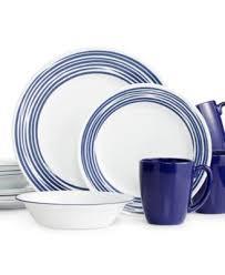 corelle brushed cobalt blue 16 pc dinnerware set service for 4