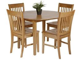 round drop leaf table set utah oak dining set with round drop leaf table 4 chairs dining