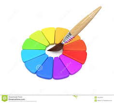 color wheel and paintbrush stock illustration image 39156585