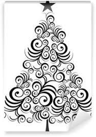 christmas tree wall murals u2022 pixers