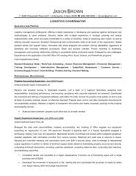 Logistics Specialist Resume Sample by Logistics Coordinator Resume Sample Gallery Creawizard Com