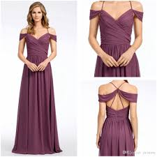 vintage frosted violet chiffon bridesmaid gowns modest crossover