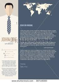 cool new modern cover letter template stock vector 260429828