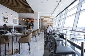 american airlines fine dining room is extremely fancy time customers sit inside the american airlines group inc flagship first dining room at john f