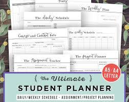 high school agenda college student planner printable student planner 2017 2018