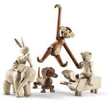 mid century modern wood animals bojesen designer mid
