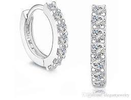 types of earrings for women 2018 925 sterling silver hoop earrings for women jewelry fashion