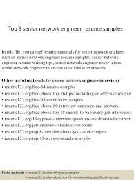 Senior Level Resume Samples by Top8seniornetworkengineerresumesamples 150407031541 Conversion Gate01 Thumbnail 4 Jpg Cb U003d1428394588