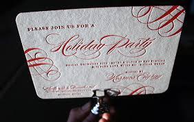 salutations loves smock letterpress holiday party invitation