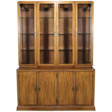 davis cabinet lighted display cabinet china hutch vintage mid