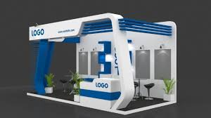 exhibition booth 3d model 6 mtr x 3 mtr 3 sides open 3d model max