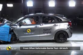 bugatti crash test only three stars for suzuki baleno in latest euro ncap tests